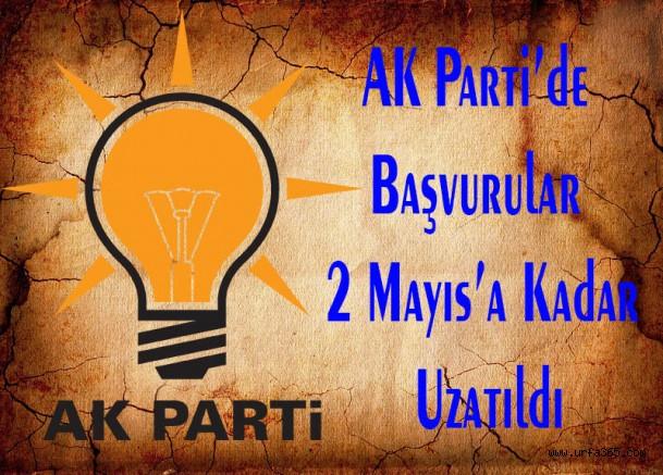 AK Parti'de Başvurular 2 Mayıs'a Kadar Uzatıldı