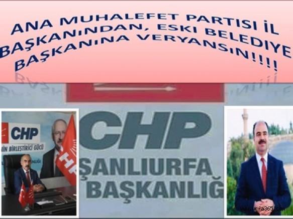 Ana Muhalefet Partisi İl Başkanından, Eski Belediye Başkanına Veryansın!!!!