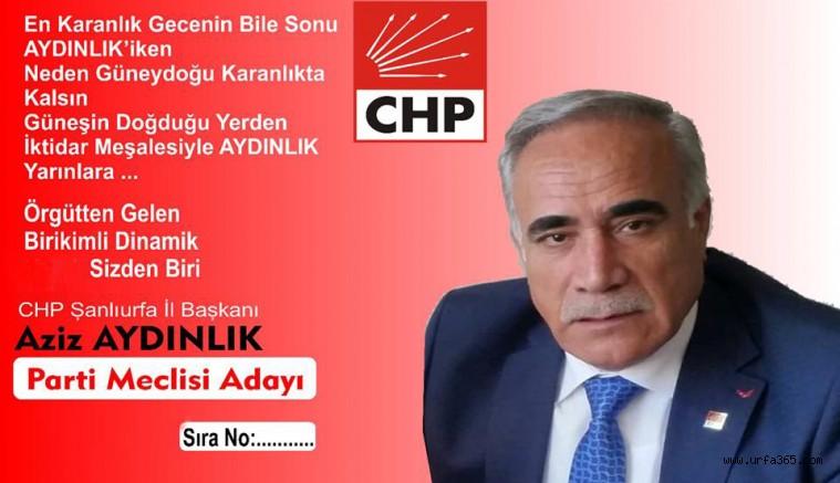 Aziz Aydınlık Parti Meclisi Adaylığı Açıkladı