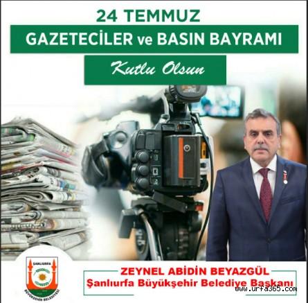 Beyazgül'den 24 Temmuz Basın Bayramı Mesajı