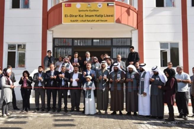 El-Dirar Kız İmam Hatip Lisesi Eyyübiye'de Açıldı