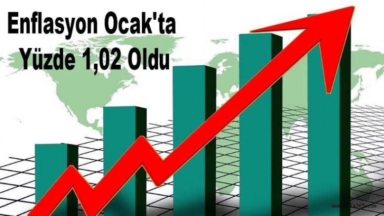 Enflasyon Ocak'ta Yüzde 1,02 Oldu