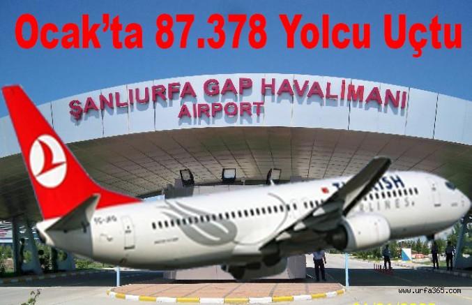 Ocak'ta 87.378 Yolcu Uçtu