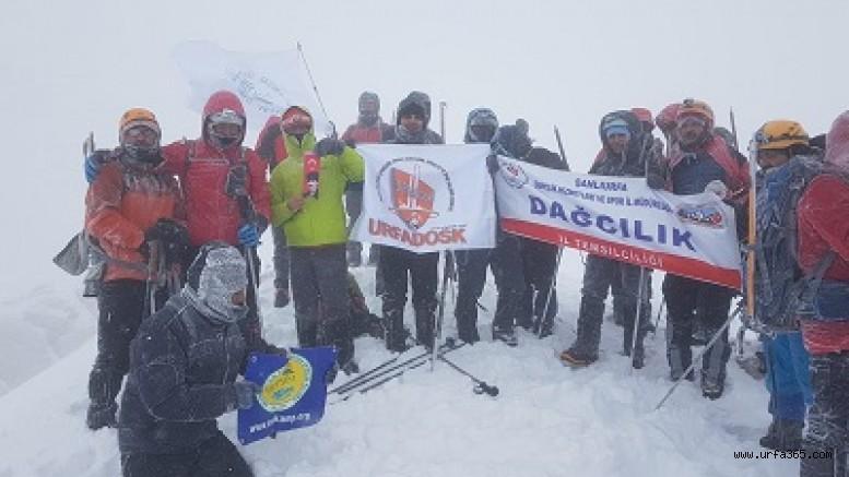 Şanlıurfa'daki Dağcılar 6. Ulusal Kış Tırmanışı'na Katıldılar