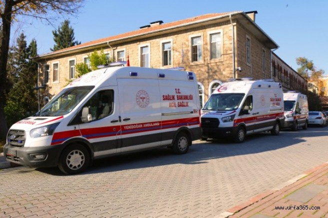Şanlıurfa'ya 3 adet yeni doğan acil yardım ambulansı geldi